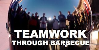Teamwork through barbeceu graphic