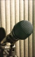 Microphone shot for blog post
